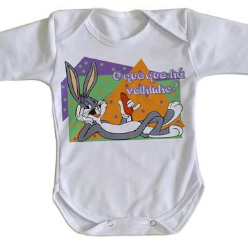Body bebê roupa nenê Pernalonga coelho looney tunes velhinho