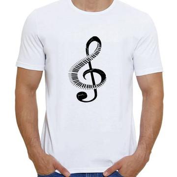 Camiseta Clave de Sol Teclado Piano Música