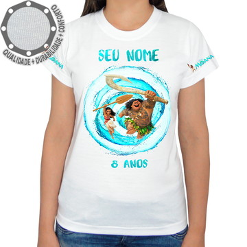 Camiseta Moana Personagens