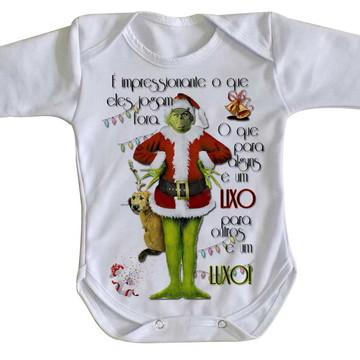Body bebê roupa nenê The Grinch Lixo Luxo natal presentes