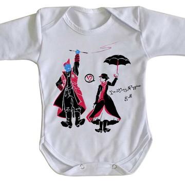 Body bebê roupa nenê Yondu Mary poppins guardioes galaxia
