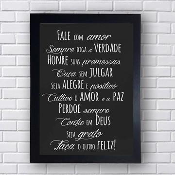 Quadro Poster Fale com amor, sempre diga a verdade
