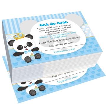 convite ursinho panda cha de fraldas personalizado bebe
