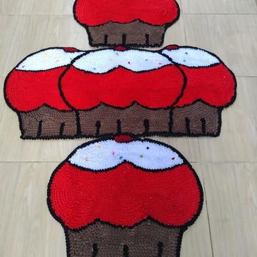 Cupcakes para decoração da cozinha tapetes frufru