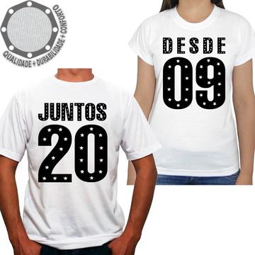 abdab2ec4 Kit 2 Camisetas Namorados Juntos Desde ah01625