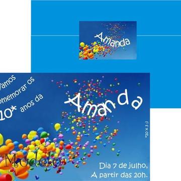 Convite 30 Anos balões