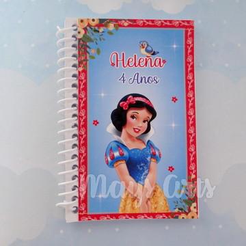 Caderninho Personalizado Branca de Neve