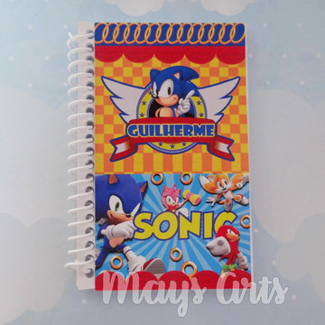 Caderninho Personalizado Sonic