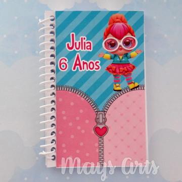 Caderninho Personalizado Lol Surprise