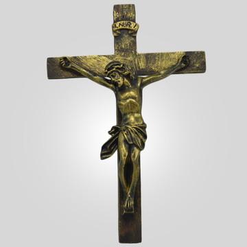 Crucifixo Ouro Envelhecido Inquebrável