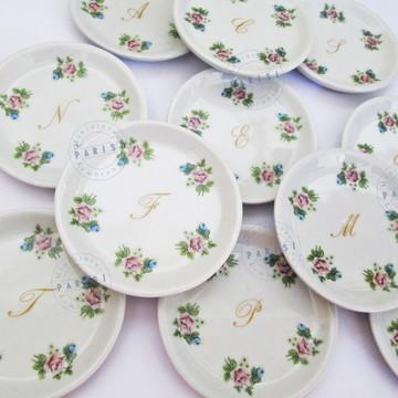 Bandejinha de porcelana joia do dia nascimento