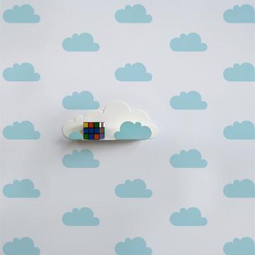 Adesivo nuvem azul