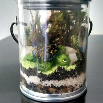 Terrario no balde -Tartaruga