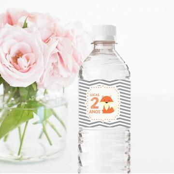 Rótulo para garrafa de água 500ml Raposinha