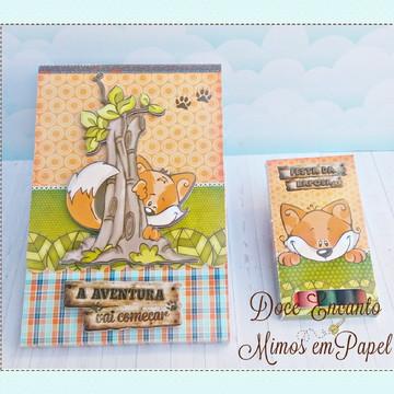 Kit Revista de Colorir Raposinha