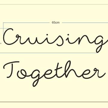 Cruising Together - Palavras de parede (arame)