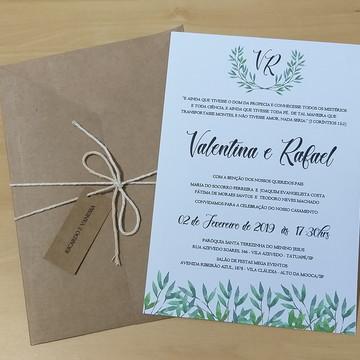 Convite Rústico para Casamento