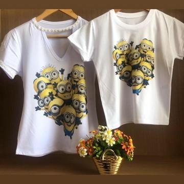 Blusas Mãe e Filho Minions