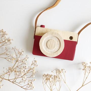Câmera Fotográfica Lúdica em Madeira - Red Bud