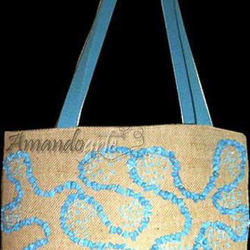 Bolsa bordada com pedrarias  - VENDIDA