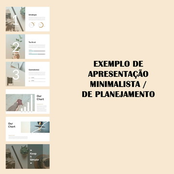 Apresentação para Planejamento (minimalista)