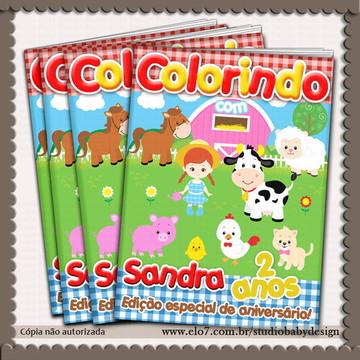 Revista de colorir Fazendinha