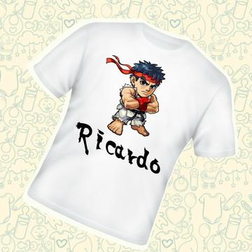 Camiseta Infantil Personalizada Ryu Street Fighter C221BR