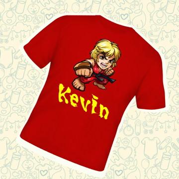 Camiseta Infantil Personalizada Ken Street Fighter C223VM
