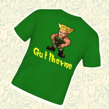 Camiseta Infantil Personalizada Guile Street Fighter C224VD