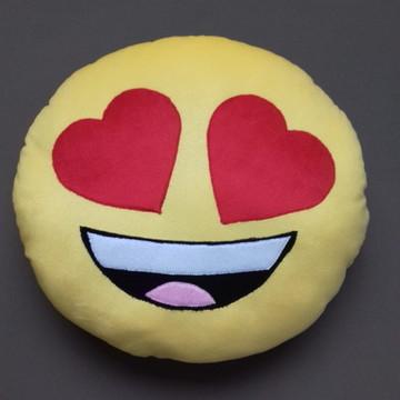 Almofadas Criativas Emoji Apaixonado Pelúcia