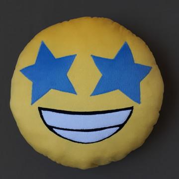 Almofadas Criativas Emoji Feliz Estrela Pelúcia