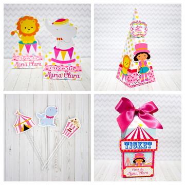 Kit Circo Rosa Menina