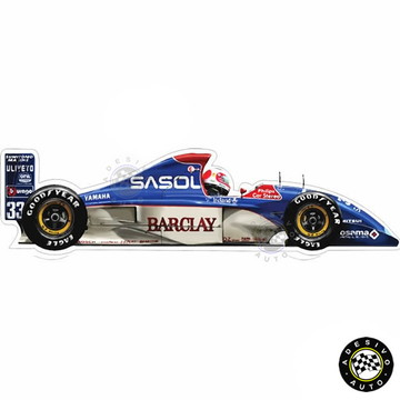 Adesivo Rubens Barrichello Jordan 193 1993 F1 Formula 1