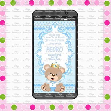 Convite Digital WhatsApp Urso Príncipe