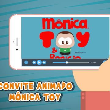 Convite Animado Mônica Toy