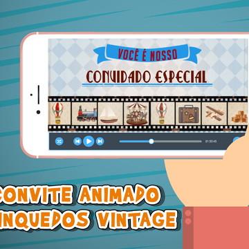 Convite Animado Brinquedos Vintage