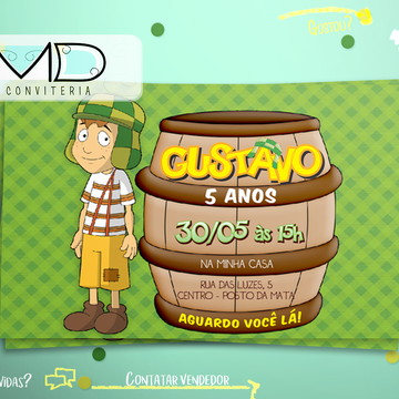 Convites Personalizados Chaves