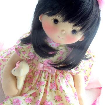 Boneca cabelo sintético