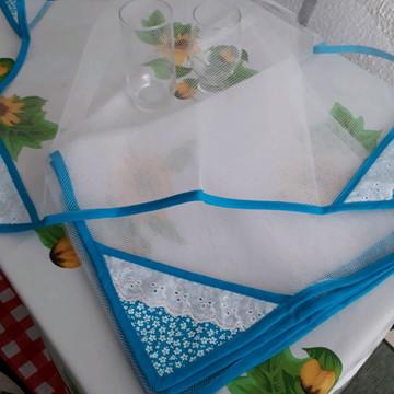 Kit 2 cobre alimentos azul !!!