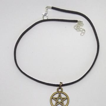 Colar Gargantilha Pentagrama Supernatural frete R$ 10,00