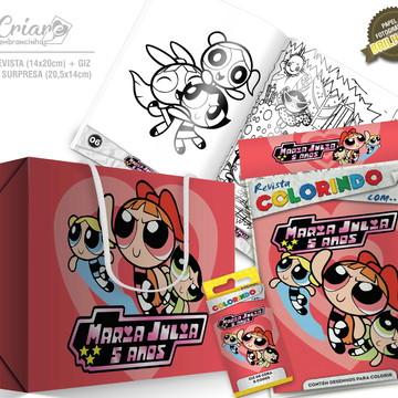 Caixa Surpresa + Kit de colorir - As Meninas Superpoderosas