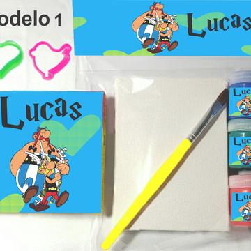 Kit massinha e pintura-Asterix