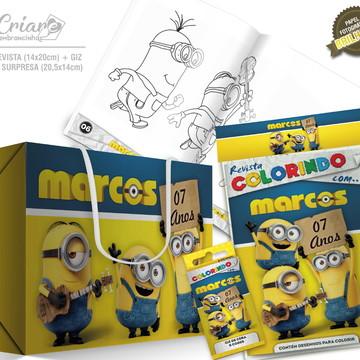 Caixa Surpresa + Kit de colorir - Minions