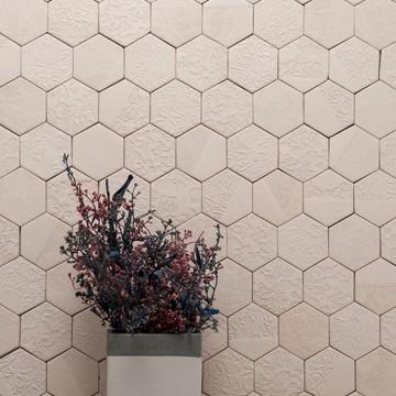 Hexagono Cerâmico Patchwork Lepri - 10 peças