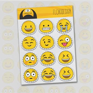 Cartela Adesiva Planner Caderno Agenda Scrapbook Emojisv