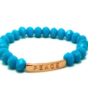 Pulseira Cristais Azul Peace