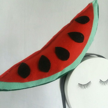 Tiara carnaval melancia