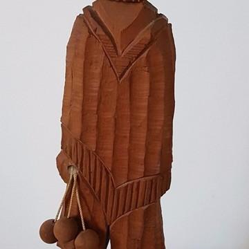 Escultura Em Madeira - Indústria Argentina