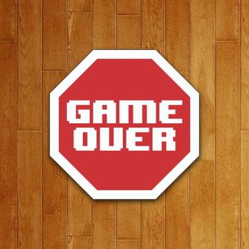 Placa Decorativa - Game Over