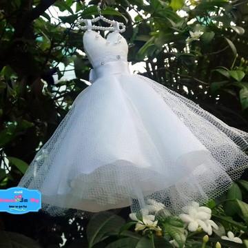 Vestidinho Noivinha ou Daminha - casamento - convite